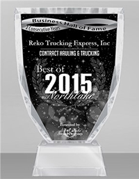 Reko Trucking Express Inc: 2015 Award
